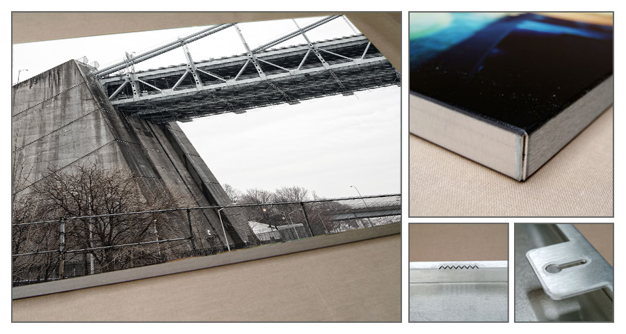 Brushed aluminum Metal Prints