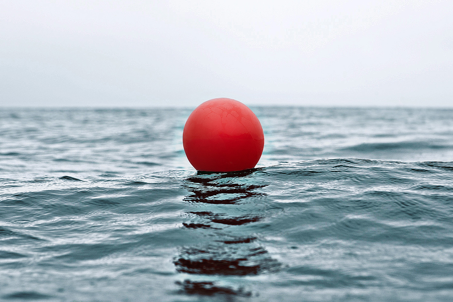 Landscape Photography ball floating on ocean