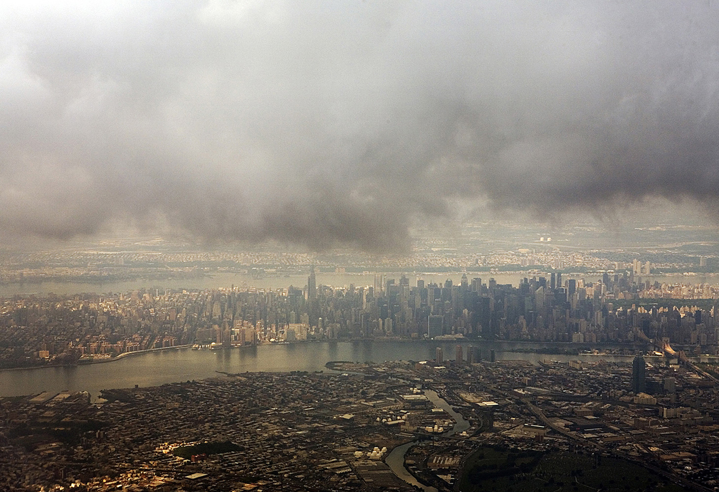 Landscape Photography flying over new york fog