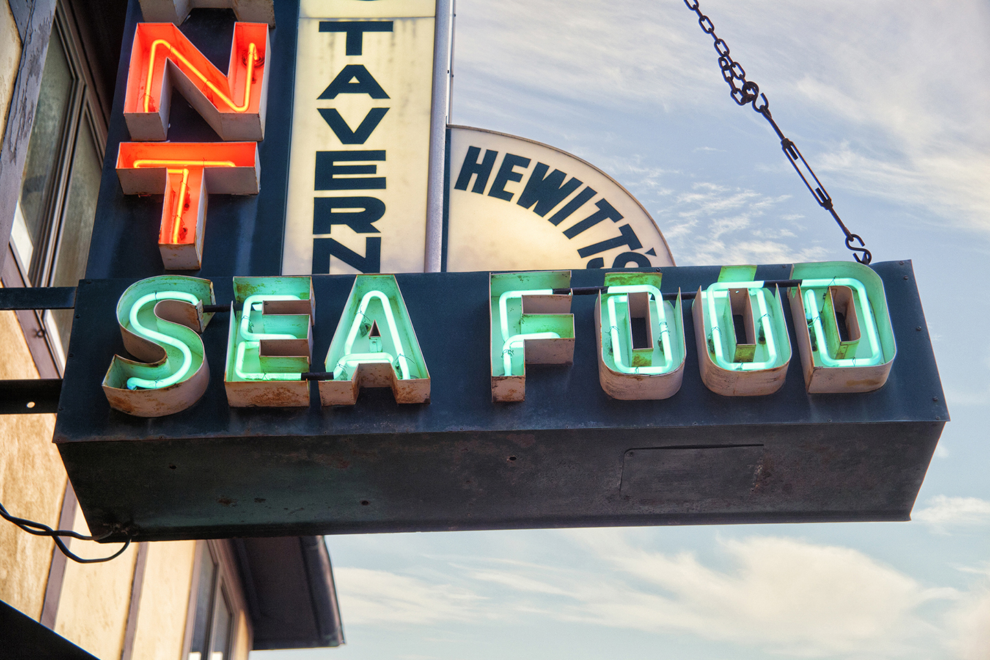 Landscape Photography Montauk Sea Food Sign
