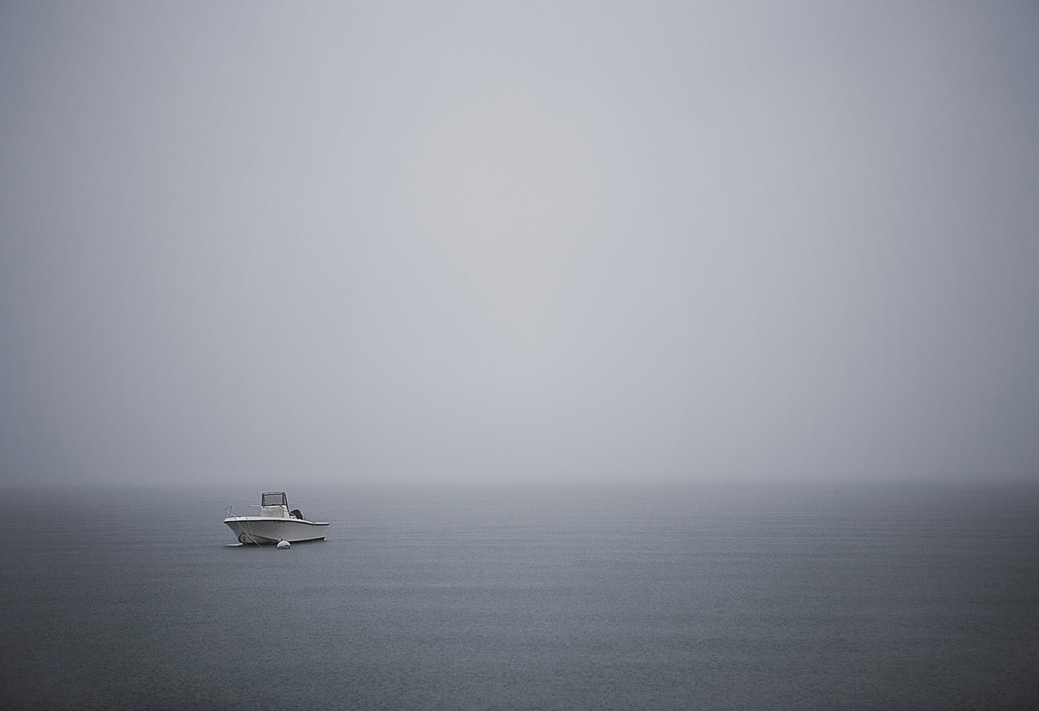 Landscape Photography small boat in ocean